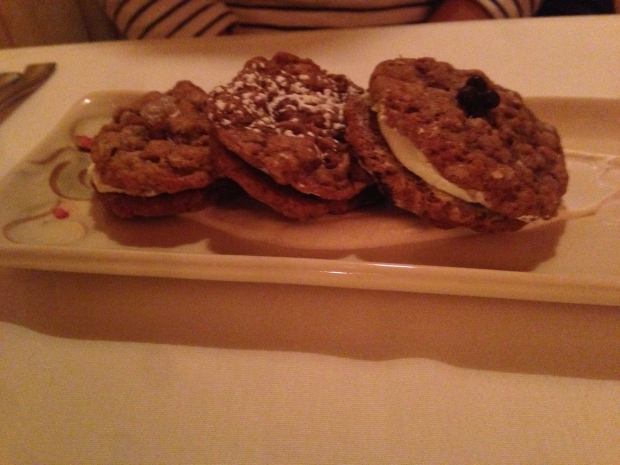 Oatmeal cookie sandwiches done three ways