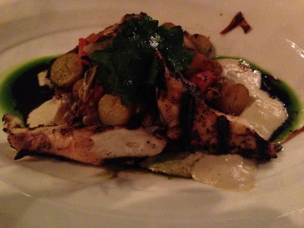 Polpo - grilled octopus, roasted peppers, and fingerling potatoes