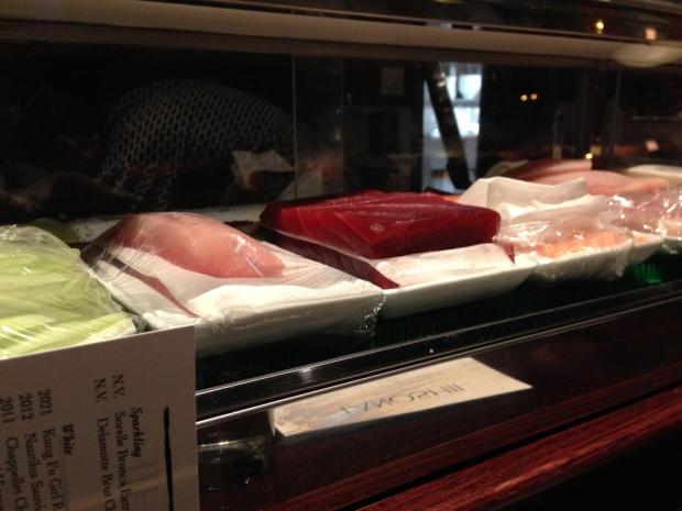 The sushi bar at Tanoshii