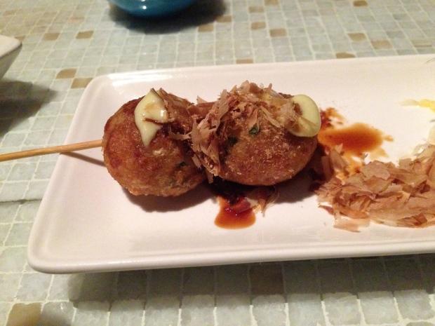 Tako Yaki - bonito, wasabi