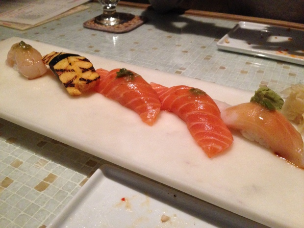 Assorted raw fish