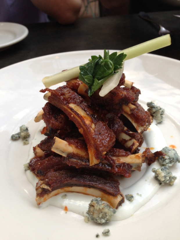 Wild boar ribs, sambal, honey, blue cheese