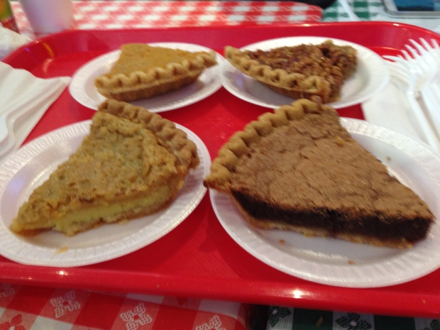 Chess pie x2, pecan, key lime